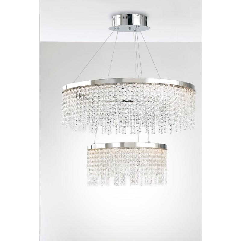 LED-VENUS-S75 - Lampadario sospeso a due anelli di diversa misura 83 watt