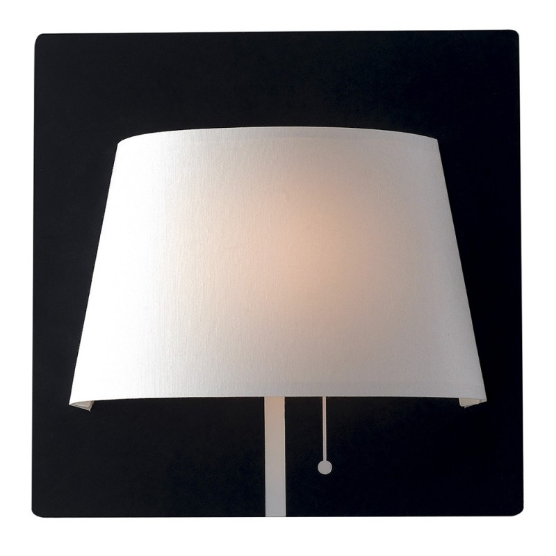 LED-WHAROL-BW Applique Wharol base bianca diffusore nero