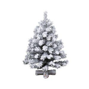 Mini Albero di Natale Toronto innevato 90cm