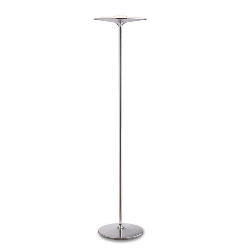 LED-IKON-PT CR LAMPADA PIANTANA MODERNA STRUTTURA IN METALLO CROMO LED 36W