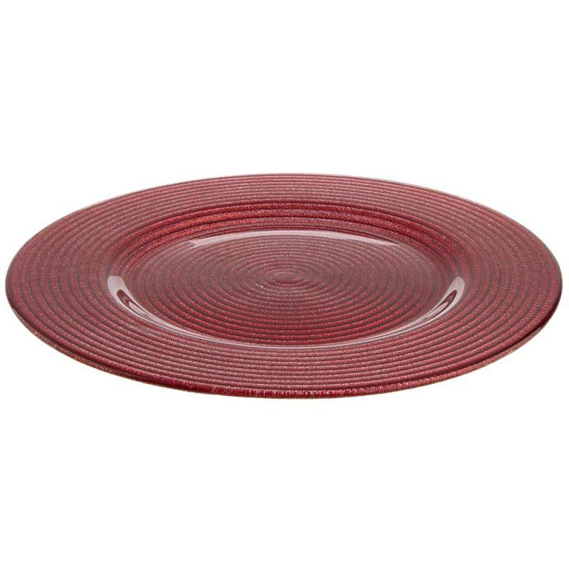 6pz Piatto Sfarzo Rosso D31,5cm
