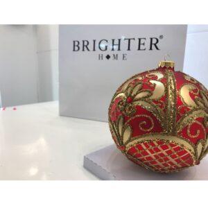Pallina di Natale Rossa e Dorata 15cm