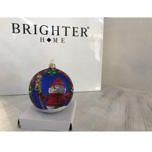 Pallina di Natale Vetro Blu Cobalto ⌀ 10cm