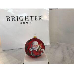 Pallina di Natale Vetro Rosso ⌀ 10cm