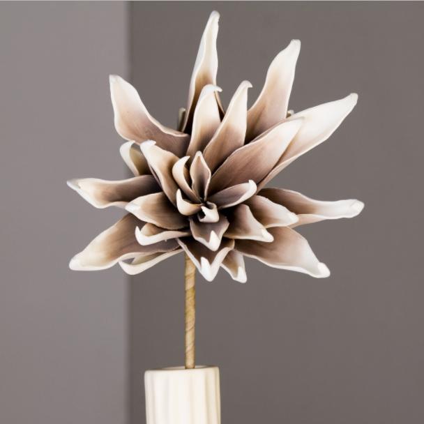 Fiore Bianco/Marrone D25xH90cm