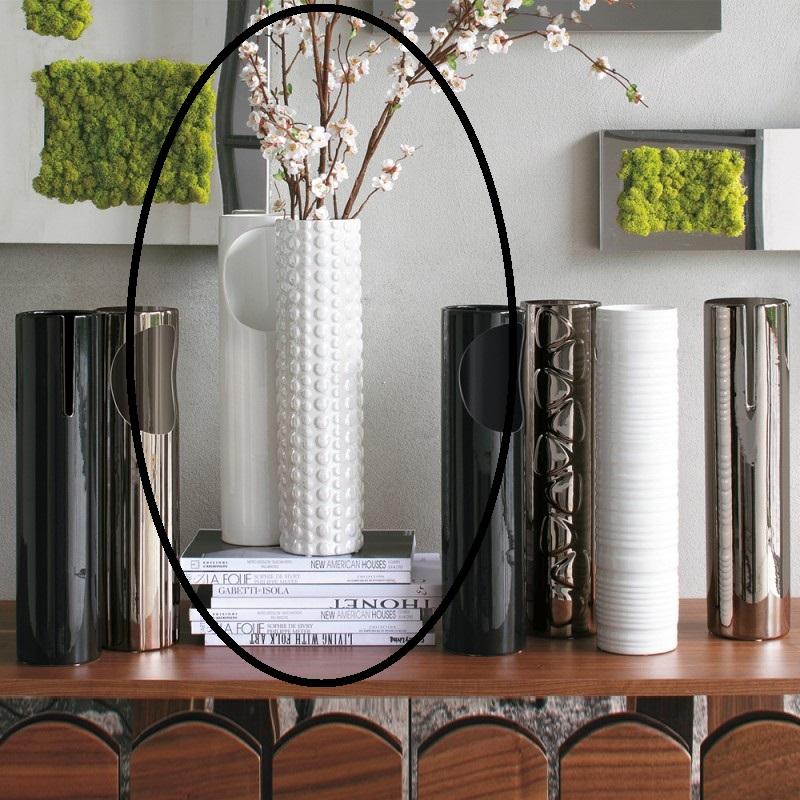 Vaso Bianco D10,5xH43cm