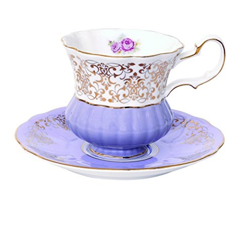 Tazza e piattino da tè in ceramica Easy Life