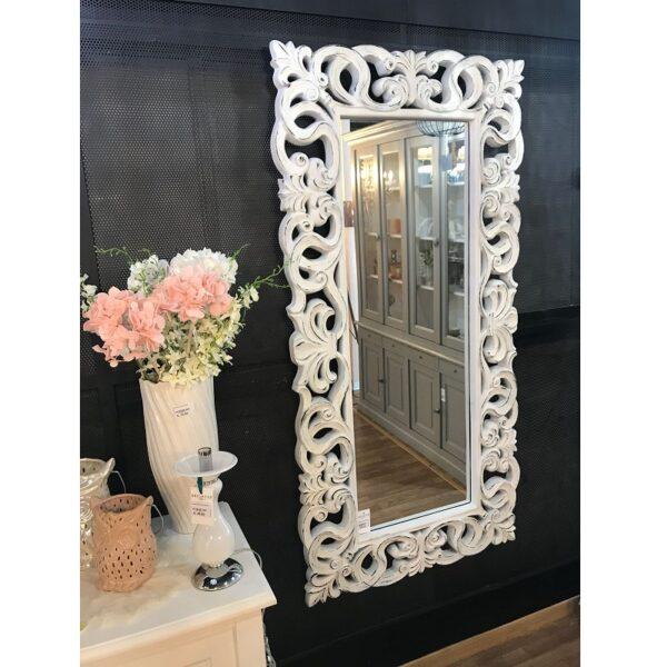 Specchio Birningham Bianco & Grigio