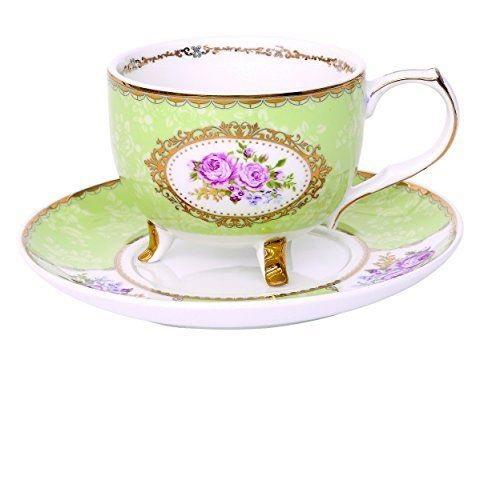 Tazzina porcellana fiore Verde Easy Life