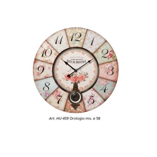 Orologio Shabby Fiorato L'arte di Nacchi