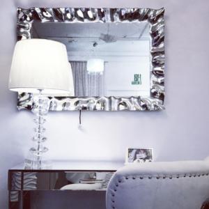 Specchio Argentato con cornice Specchiata