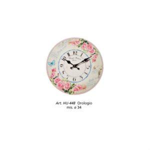 Orologio Piccolo Shabby Fiorato L'arte di Nacchi