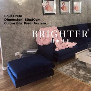 Pouf Creta Blu 80x80cm
