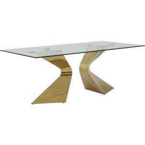 Tavolo Vetro Glorioso Oro 200x100cm