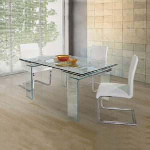 Tavolo Cristallo 150x90cm Allungabile