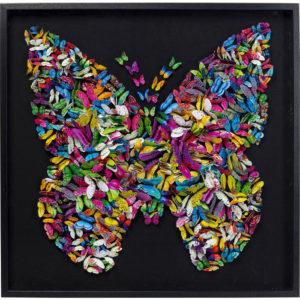 Quadro Farfalle 3D 120x120cm