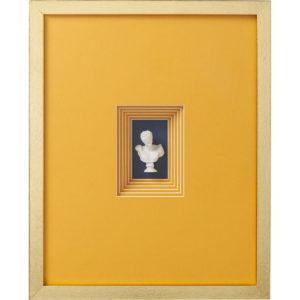 Cornice Decorativa Busto Arancione 50x40cm