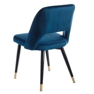 Sedia Taza in velluto Blu